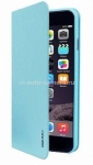 Кожаный чехол для iPhone 6 Ozaki O!coat 0.3 + Folio Case, цвет Light Blue (OC558LB)