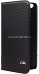 Кожаный чехол для iPhone 6 Plus BMW M-Collection Booktype Carbon, цвет Black (BMFLBKP6LMCC)